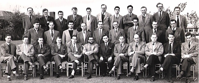 Tariq Mustafa at the first post graduate International Reactor School of the United Kingdom Atomic Energy Authority at Harwell, near Oxford- 1957
