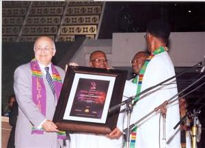 Ismail Serageldin receives lifetime Africa Achievement Prize, December 2010