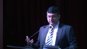Dr. Athar Osama, CEO of Pakistan Innovation Foundation, speaking at #DisruptED
